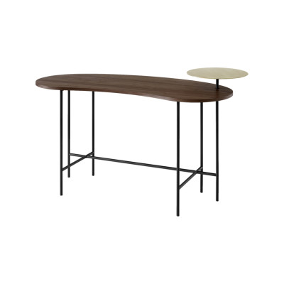 Palette JH9 Desk Lacquered walnut & Brass