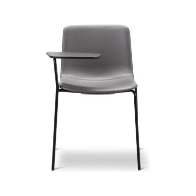 Pato 4 Leg Writing Tablet Fully Upholstered Black Painted Steel, Nubuck 501 Light sand