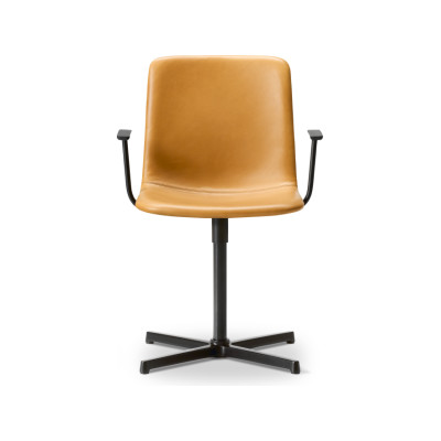Pato Executive Armchair Chrome Steel, Leather 70 Beige