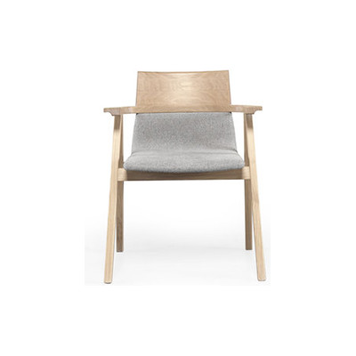 Pensil Armchair Oak Natural, Lana 007 Canary