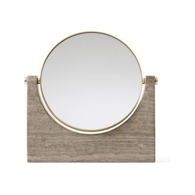 Pepe Marble Mirror Brass/Honed Brown