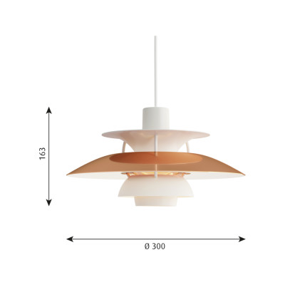 PH 5 Mini Pendant Light Polished Copper