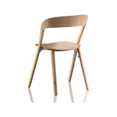 Pila Stacking Chair  - Set of 2 Natural Oak