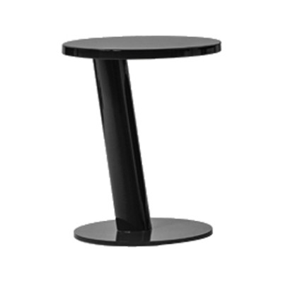 Pipe Side Table Chromed Steel, 65 X 36