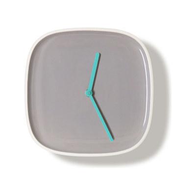PLATE | Clock Gray & Turquoise