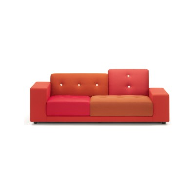 Polder Compact Sofa Night Blue, 02/L Low armrest left/sitting right