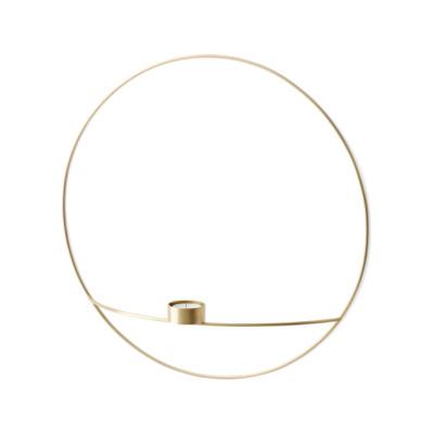 POV Circle Tealight Candleholder - Set of 2 Brass, L