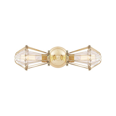 Praia Doble Wall Light Polished Brass