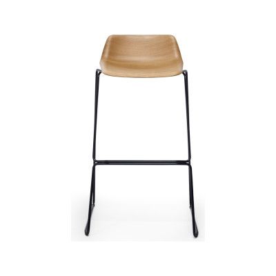 Pressious Stool 89cm, walnut painted beech