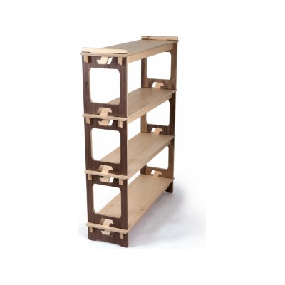 Prima Display Unit Maple Shelves and Walnut Sides