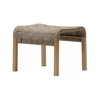 Primo Stool Beech Stained, Braded Leather Natural