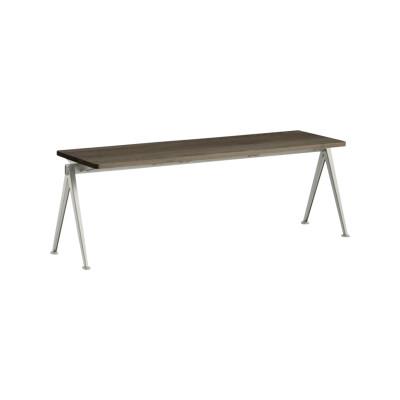 Pyramid bench 11 Beige Frame, Oiled Oak Tabletop, 200cm