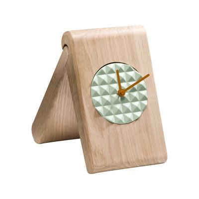 Pyramid Clock NATUAL OAK/MINT