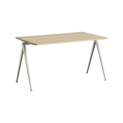 Pyramid table 01 Black Frame,  Oiled Oak Tabletop, 140cm