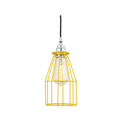 Raze Cage Pendant Light Powder Coated Yellow