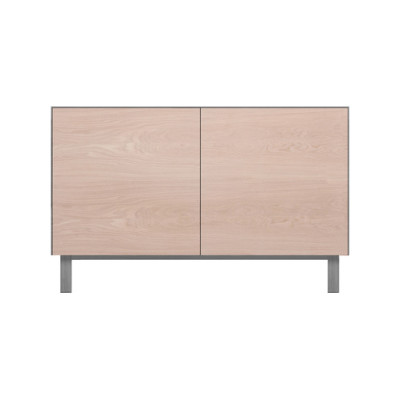Rectangular Cabinet 2 Doors Oak, Light Grey
