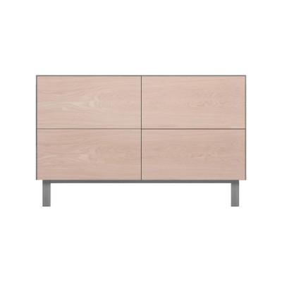 Rectangular Cabinet 4 Drawers Oak, Light Grey