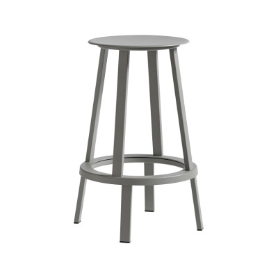 Revolver Bar Stool Grey, Low