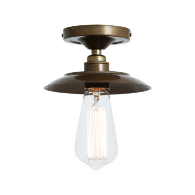 Reznor Ceiling Light Antique Brass