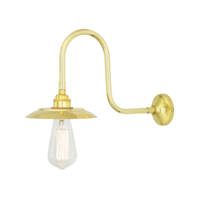 Reznor Wall Light Satin Brass
