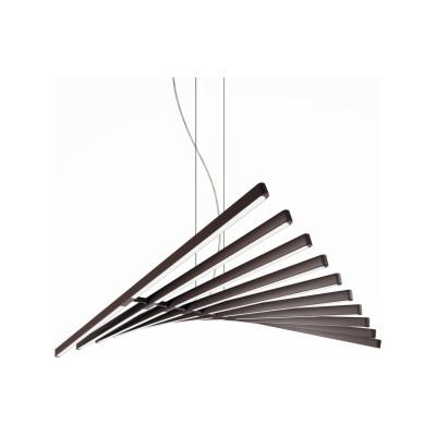 Rhythm Horizontal Pendant Light - 87 cm Height Off,White Matt Lacquer, 189cm