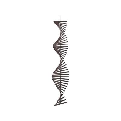 Rhythm Vertical Pendant Light - 47 cm Width Off-White Matt Lacquer, 52.5cm, Downlight
