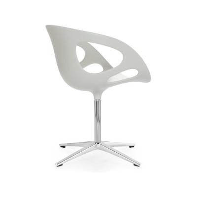 Rin Plastic Chair Plastic White, Matching aluminium