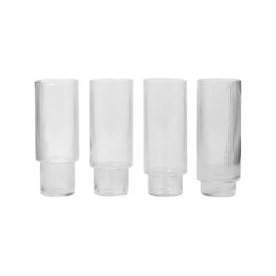 Ripple Long Drink Glasses - Set of 12
