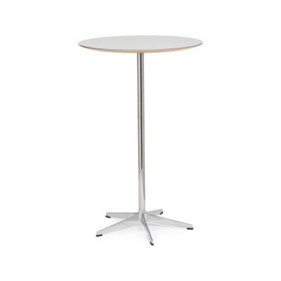 Rondo D70 5 Star Base Round Table d70 x h90, White Lacquer, Laminate White