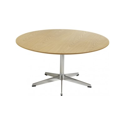 Rondo D90 5 Star Base Round Table d90 x h60, White Lacquer, Laminate White