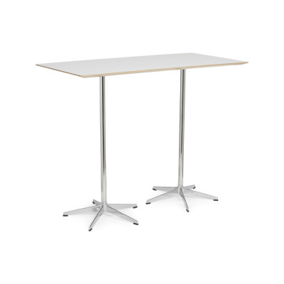 Rondo Double Table 140 x 70 x 72, White Lacquer, Laminate White