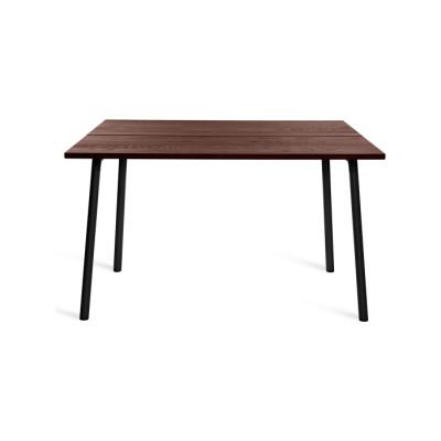 Run Dining Table 122cm, Black, Walnut Top