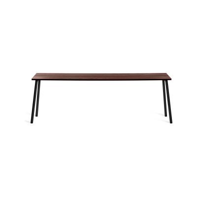 Run Side Table 222.5cm, Black Powder Coated, Walnut