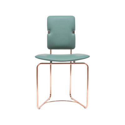 Safari S02 Chair Green, Copper Frame