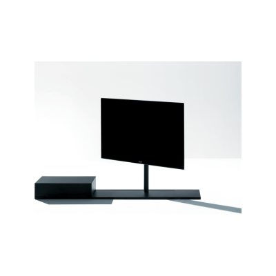 Sail 302 TV Stand System B07, H 119cm, No Shelf, W 190cm, Central TV Positioning, A66 Lacquared Raw Iron