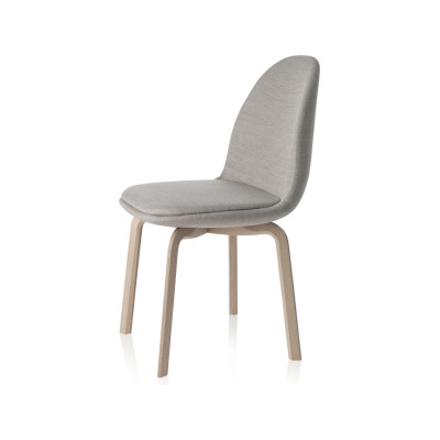 Sammen Chair Black Lacquered Oak, Natural Leather