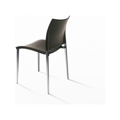 Sand Dining Chair - Stackable Polypropylene F46 Petrolio, Desalto Lacquers Grey Umbro B84