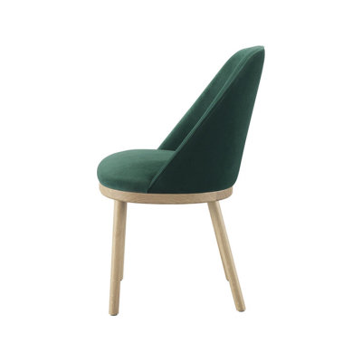 Sartor Chair Wood Legs Walnut, Lana 007 Canary