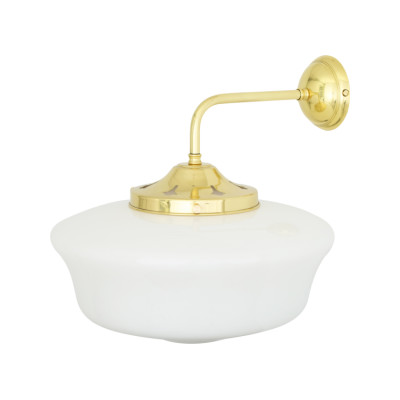 Schoolhouse Wall Light Satin Brass