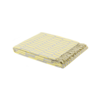 Scribble Throw Kenno Yellow/Grey