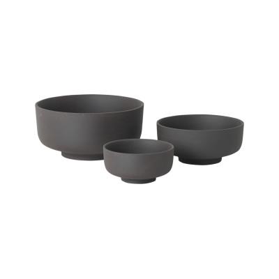 Sekki Bowls - Set of 6 Charcoal