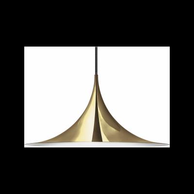 Semi Pendant Light Gubi Metal Brass, Ø47