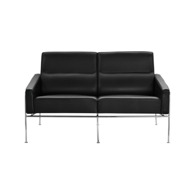 Series 3300 2-seater Sofa Classic Leather Black