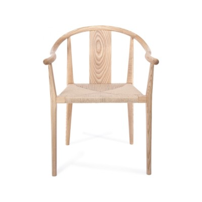 Shanghai Dining Chair Papercord Black, Ash Smoked