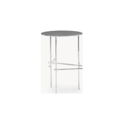 Shanghai Tip Round Side Table Gold Chrome