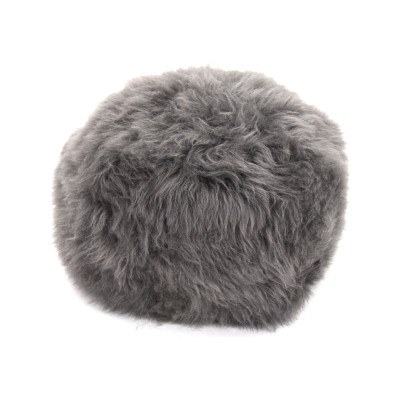 Sheepskin Baa Pouffe in Slate Grey