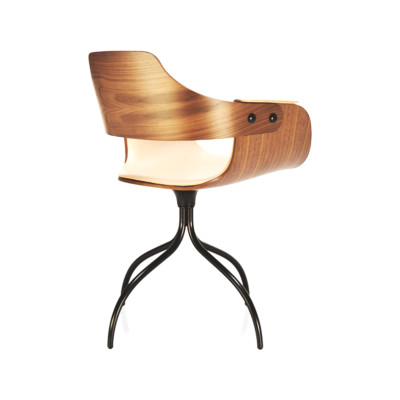 Showtime Chair - Swivel Base Ash Wood Stained Black