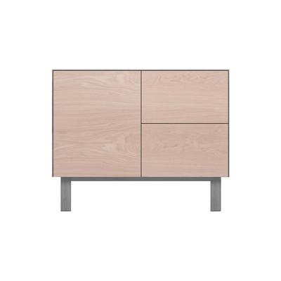 Sideboard 1 Door & 2 Drawers Oak, Light Grey