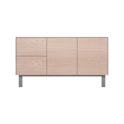 Sideboard 2 Doors & 2 Drawers Oak, Light Grey