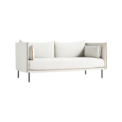 Silhouette 2 Seater Sofa Powder Coated Steel, Cognac Leather, Remix 2 113
